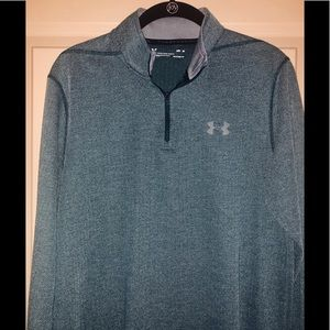 Like new Under Armour men's tech 1/4 zip- green!